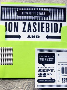 Oh So Beautiful Paper: Best of 2011: Neon Wedding Invitations