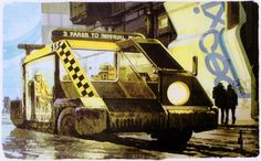 American artist Syd Mead, who is best known for his concept designs for sci-fi film Blade Runner, has died at the age of Retro Futuristic, Futuristic Design, Blade Runner Car, Blade Runner Wallpaper, Syd Mead, Tecno, Background Images, Les Oeuvres, Science Fiction