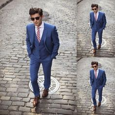Handsome 2014 dark blue custom made wedding suits for men Groom / Groomsmen Tuxedos mens wedding suits