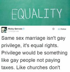 Ricky Gervais' Thoughts on Gay Marriage