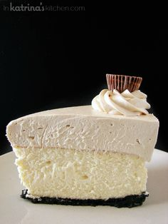 Peanut Butter Truffle Mousse Cheesecake Recipe - SO worth every calorie.