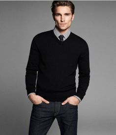 MERINO WOOL V-NECK SWEATER | Express--note to self--buy this