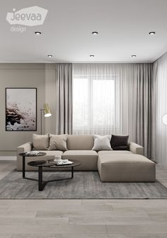 Best Living Room Design, Living Room Designs, Colour Combinations Interior, Starter Home, Color Pallets, Couch, Curtains, Interior Design, Modern