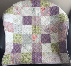 A Beautiful 31 X 31 Quilt Of Smokey Purple by WrappingYouInWarmth Purple Grey, Green And Grey, Modern Color Palette, Fabric Squares, Modern Fabric, Quilt Patterns, Color Schemes, Quilts, Blanket