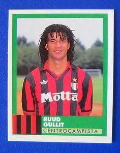 FIGURINA VALLARDI E' IL CALCIO 92/93 - N.187 - GULLIT - MILAN - new Ruud Gullit, Retro Football, Football Pictures, Ac Milan, Football Players, Nostalgia, Soccer, Memories, Baseball Cards