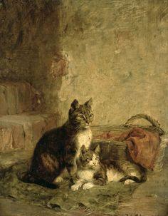 Julius Adam (1826-1874), Cats, 1883. http://www.artsalonholland.nl/kunst-encyclopedie