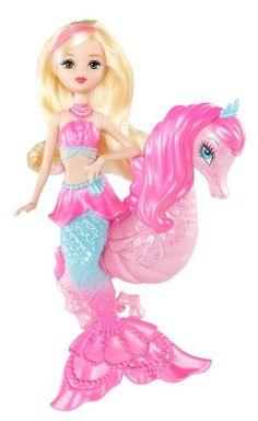 Amazon.com: Barbie The Pearl Princess Mermaid Doll with Seahorse: Toys & Games