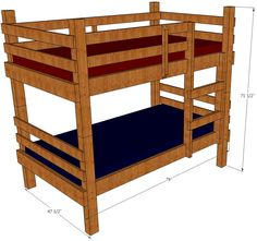 Mattress Kids Bobs Furniture Bunk Beds Jpg 736 536
