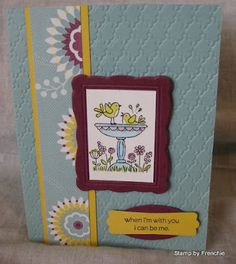 """Cute card by Frenchie, featuring the Stampin' Up! stamp set """"For The Birds"""""""