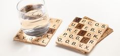 Love Scrabble? Then you'll love these coasters made of Scrabble tiles! Learn how to make them here: sgbrid.es/TaeegF