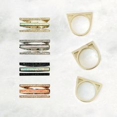 the Lucia ring is perfect for mixing, matching, and stacking.