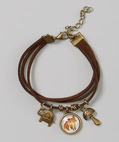 Look what I found on #zulily! Brown Fox Charm Bracelet by Owl Bee Mod #zulilyfinds