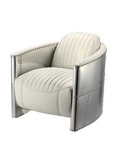 Iconic Accents Aviator Metal Egg Chair (White)