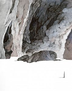 Min Jung-Yeon's India Ink Paintings of Roads Less Traveled | Hi-Fructose Magazine