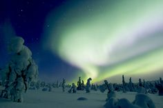 Northern lights above Riisitunturi in Posio, Lapland. Photo by Markku Pirttimaa