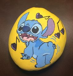 Stitch painted rock -by kerry clay pot crafts, art crafts, face art, Art Painting, Face Art, Robert Rock, Creative, Painted Shells, Painting, Art, Painted Rocks, Arts And Crafts