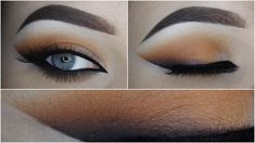 Warmtoned orange brown eyelook + Smoked out wing