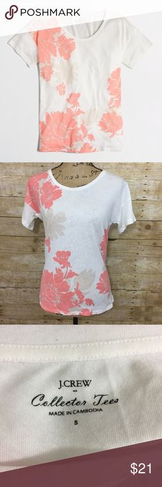 J.Crew Floral Tee NWT! Bust is 20 inches and length is 24 inches. Cotton and Polyester blend. Somewhat sheer. I'm open to offers! J. Crew Tops Tees - Short Sleeve