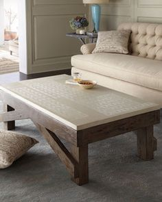 Coffee table from Horchow. The top is the periodic table of elements. Sweet!