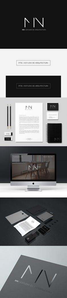 Branding and stationery design in black and white - minimalist logo design with sleek typography and a clean and modern corporate identity. Business Card Maker, Unique Business Cards, Typography Logo, Logo Branding, Lettering, Web Design, Design Cars, Corporate Design, Business Card Design