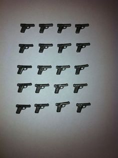 X20 Playmobil Pistols Guns With A Special 40 Anniversary Vintage Figure Rare!! #PLAYMOBIL