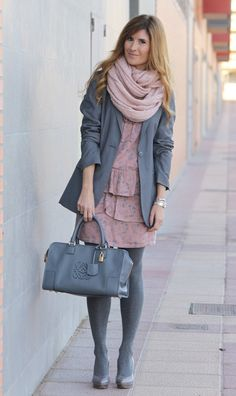 primark-scarves-echarpes-titis-clothing-dresses~look-main-single. Grey Tights, Wool Tights, Soft Summer, Style Feminin, Clubbing Outfits, Winter Stil, Tights Outfit, Pantyhose Outfits, Mode Outfits