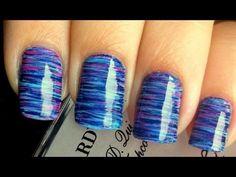 Cool Fan Brush Striped Nail Art Tutorial