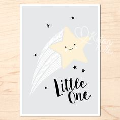 'Little One' Print by Keton Kids    Kids poster range swapping cutesy for cool. Kids interiors, bedroom and nursery decor.  Printed on 200gsm satin paper  Size: 50 x 70cm