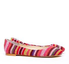 Cheyenne Woven Fabric Ballet Flats >> So cute!