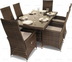 Reclining Rattan Garden Dining Set | http://modeliving.co.uk