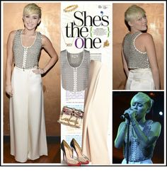 """Celebrity Style - Miley Cyrus at City Of Hope Gala"" by robilollo on Polyvore"