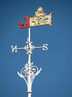 The weather vane atop the Horniman Museum Conservatory.
