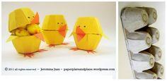 Riciclo creativo: i pulcini con i cartoni delle uova