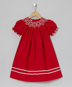 Take a look at this Red & White Bishop Dress - Infant, Toddler & Girls by Candyland on #zulily today!