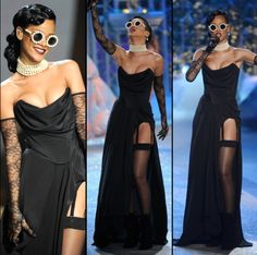 Rihanna performing at the Victoria's Secret Fashion Show