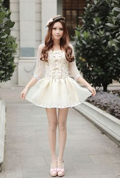 Mango Doll - Sweet Flower Chiffon Dress, $52.00 (http://www.mangodoll.com/all-items/sweet-flower-chiffon-dress/)