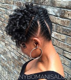 Flat Twists Updo For Shorter Hair                                                                                                                                                     More