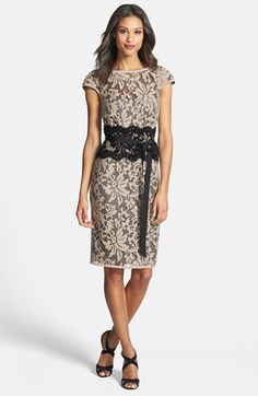 Tadashi Shoji Embroidered Lace Sheath Dress available at #Nordstrom... this might be the one
