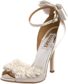 www.badgleymischka.com, Badgley Mischka Women's Lelah Frilly, bride, bridal, wedding, wedding shoes, bridal shoes, haute couture, luxury shoes
