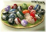 Scandinavia Easter Traditions & Easter Customs: Basket with Easter Eggs