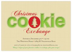 Cookie Cutout Exchange Holiday Party Invitation—Rachel Jasper for Indigo Prints