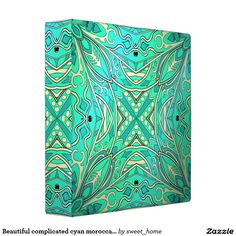 Beautiful complicated cyan moroccan ornament. binder  make interior unique and add aesthetics sense. Ornament create in oriental tradition. #Home #decor #Room #Interior #decorating #Idea #Styles