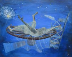 Swiss artist Margaretha Gubernale utilises traditional materials such as oil on canvas to express a sense of spirituality and interconnectedness. Canal Boat, Bohemian Living, Make Art, Art World, Oil On Canvas, Bodybuilding, Spirituality, Double Helix, Dna