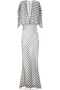 94cd1a3b83 Shop for Obie striped silk-chiffon maxi dress by Norma Kamali at ShopStyle.
