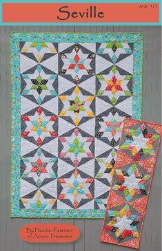 Star Blocks, Quilt Blocks, Star Patterns, Quilt Patterns, American Patchwork And Quilting, Hexagon Quilt, Hexagons, Star Quilts, Scrappy Quilts