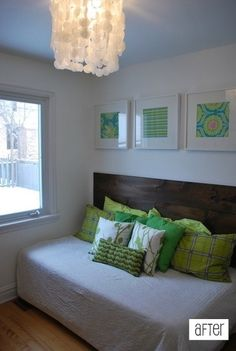 Daybed setup for twin bed w/ lengthwise headboard