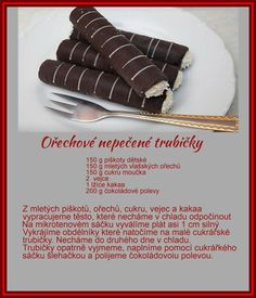 Christmas Candy, Christmas Baking, Christmas Cookies, Candy Recipes, Dessert Recipes, Czech Recipes, Ethnic Recipes, Biscuits, Deserts