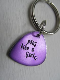 Personalized Keychain Guitar Pick Keychain by XpressiveMpressions, $20.00