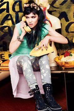 Grimes / teenvoguePhotographed by Paul Maffi