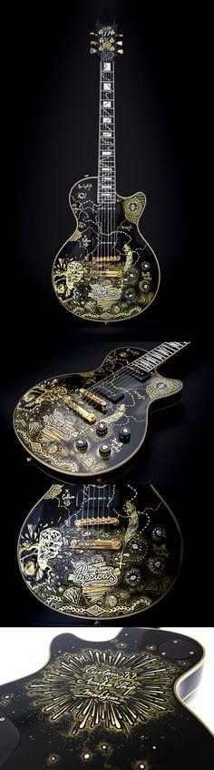 Nouvelle guitare customisée par MAKSIM